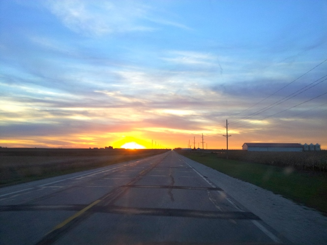 My view driving home a few weeks ago.